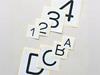 配管用数字・アルファベット表示ステッカー